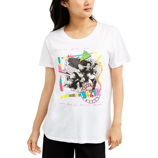 Love Tribe Juniors' 90210 Graphic T-Shirt White Size Large