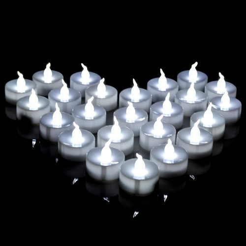 Long Lasting Tealights, AGPtek 100 Battery-Operated LED Candles Flameless