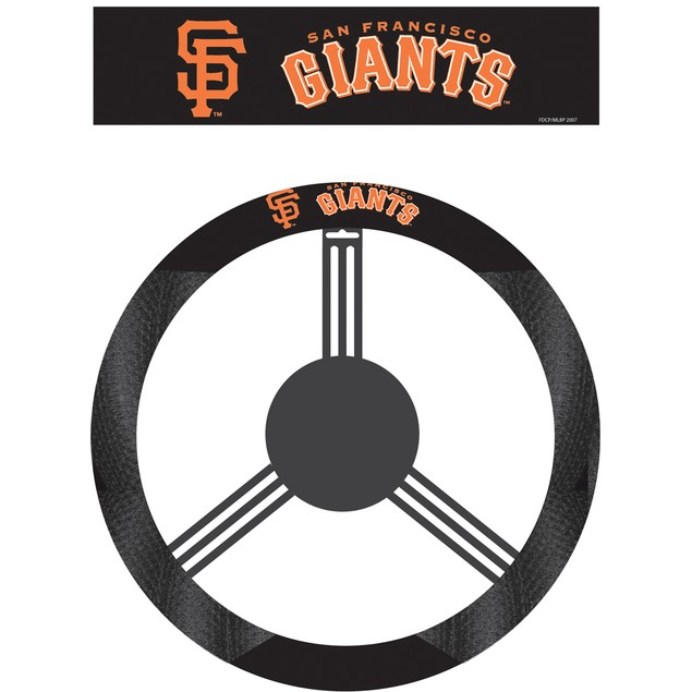 San Francisco Giants Steering Wheel Cover MLB Baseball Team Logo Poly Mesh
