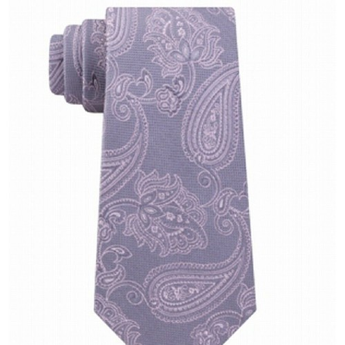 Michael Kors Men's Paisley Neck Tie Gray  One Size