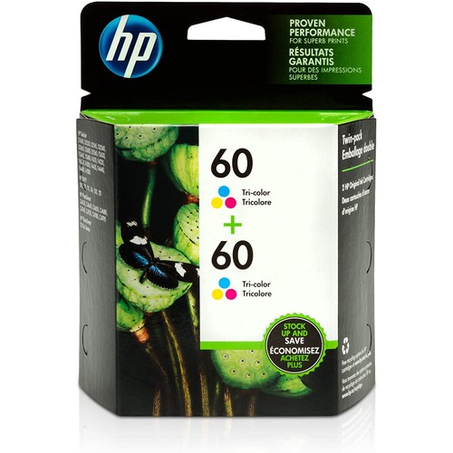 HP 60 | 2 Ink Cartridges | Tri-color | CC643WN