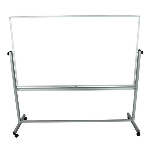 """Luxor 72"""" x 40"""" Double Sided Reversible Mobile Magnetic Whiteboard - 2 Pack"""