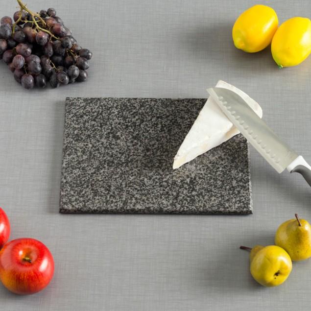 """8"""" x 12"""" Granite Cutting Board, Black"""