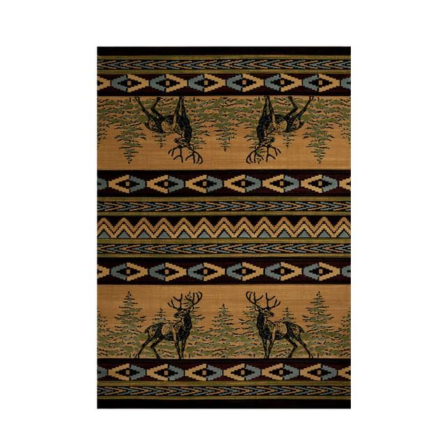 United Weavers Mule Deer Lodge Style Carpet Runner Area Rugs