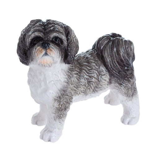 Shihtzu Black and White Figurine By Lesser and Pavey