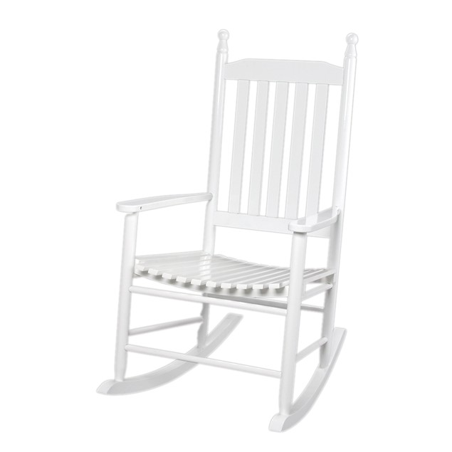 Gift Mark Adult Tall Back Rocking Chair -White
