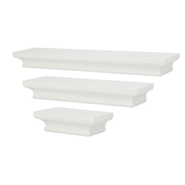 3 White Floating Shelves | MandW