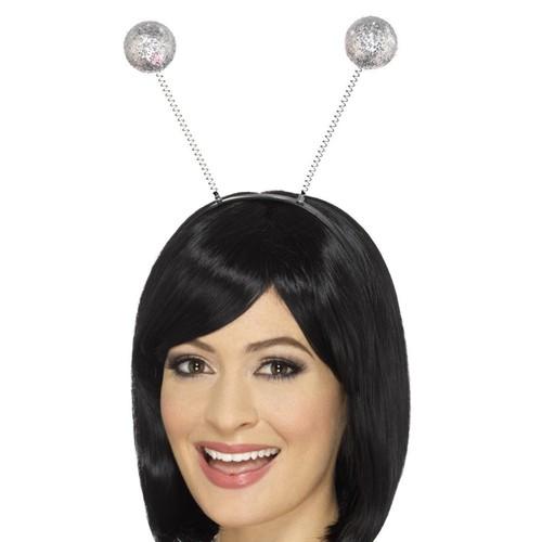 Silver Glitter Disco Ball Boppers Headband