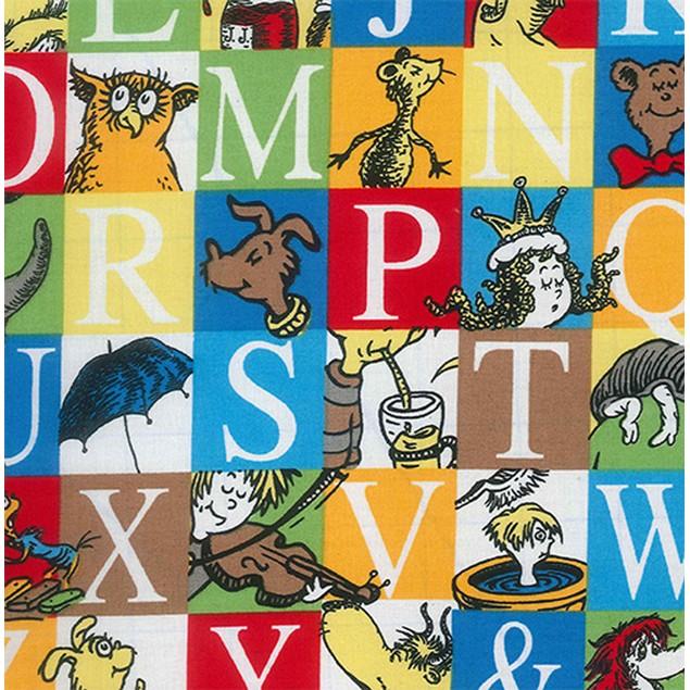 Trend Lab Dr. Seuss Alphabet Seuss Squares Crib Sheet