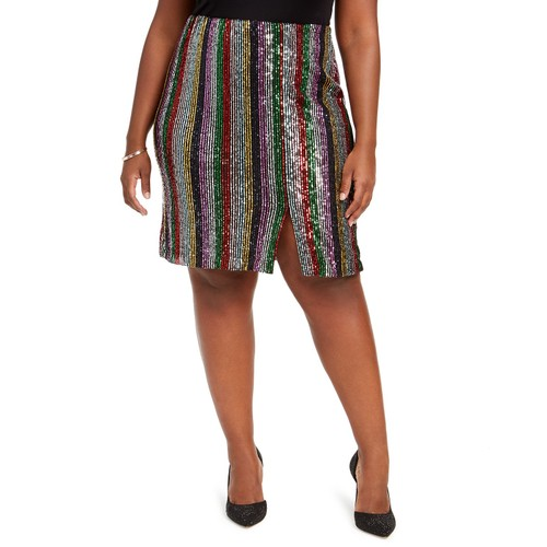 INC International Concepts Women's Plus Skirt Black Size Extra Large