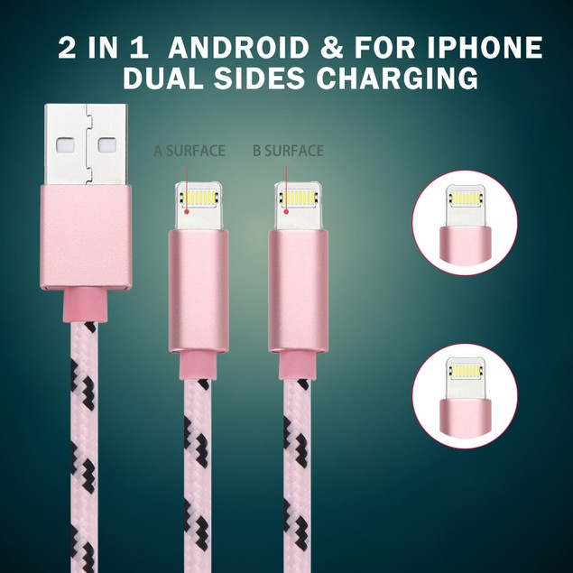 2-Pack: 2in1 Lightning & Micro USB Sync & Charge Cable