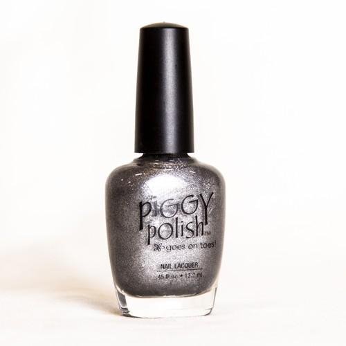 Piggy Polish Silver Scream, Shimmer Gray, .46 fl oz