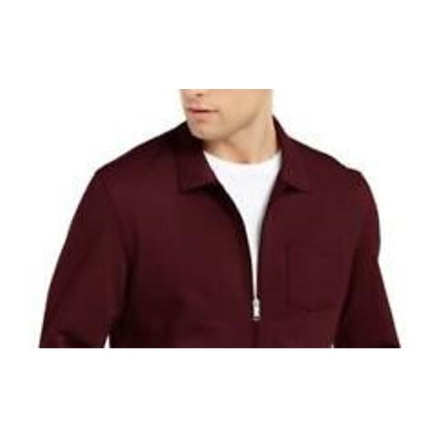 Alfani Men's Knit Shirt Jacket Red Size X-Large