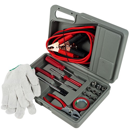 Emergency Roadside Automobile Assistance Kit- 30 Piece Set