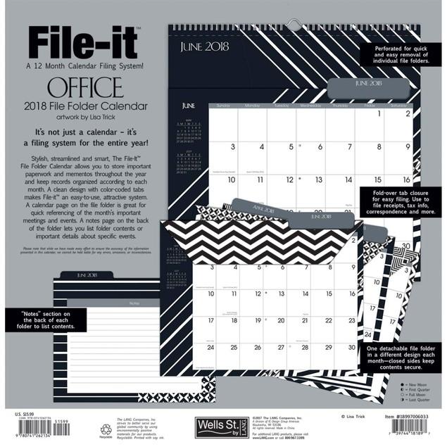 Office File-It Wall Calendar, Women's Pocket Wall by Avalanche Publishing