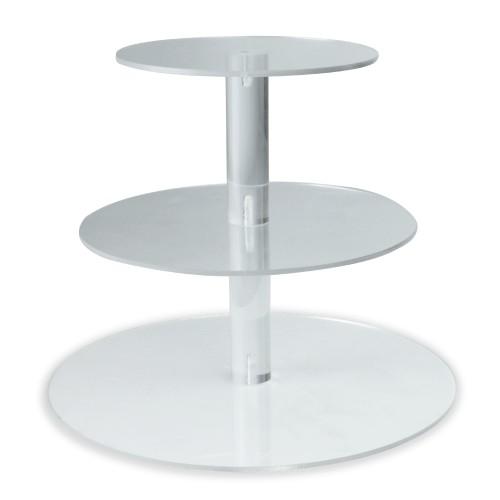 Pukkr Acrylic Cupcake Stand 3 Tier