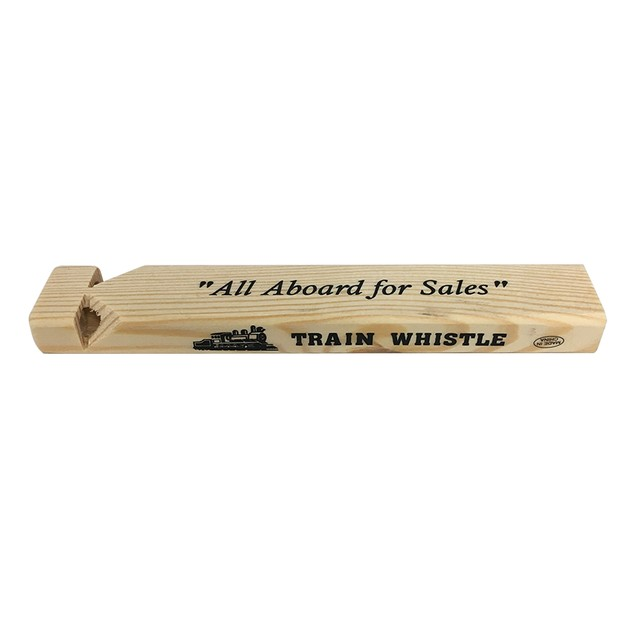 All Aboard For Sales Michael Scott Wooden Train Whistle