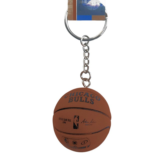 Chicago Bulls Mini Basketball Keychain Spalding NBA