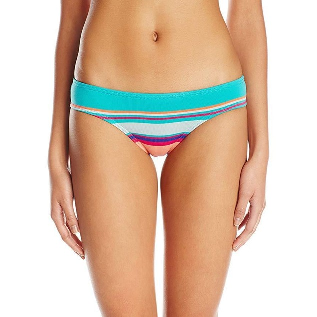 Roxy Junior's Cheeky Mini Bikini Bottom, Wave Chaser Jade, X-Small
