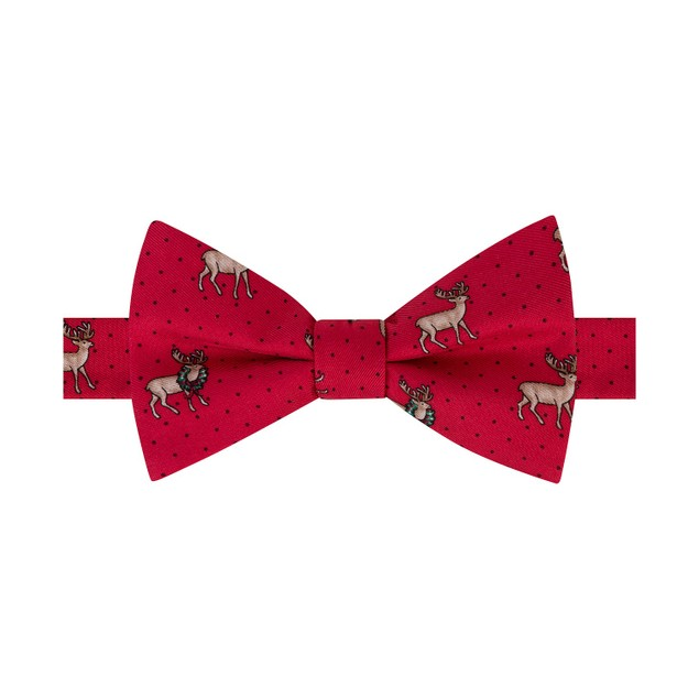Tommy Hilfiger Men'ss Reindeer Bow Tie Red One Size Red Size Regular
