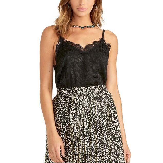 Rachel Roy Women's Lace-Trimmed Camisole Black Size Medium