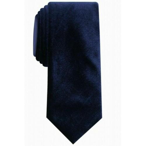 Alfani Men's Slim Velvet Tie Navy Size Regular