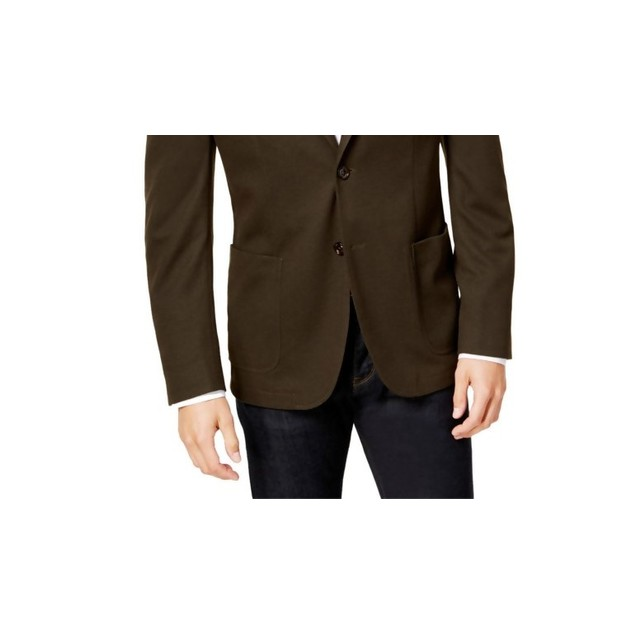 Bar Iii Men's Slim-Fit Active Stretch Solid Suit Jacket Green Size 38
