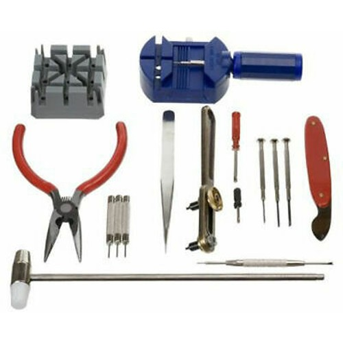 GC 16pc Watch Repair Tool Kit Band Pin Strap Link Remover Back Opener