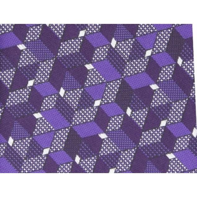 Alfani Men's Slim Geo Tie Purple One Size