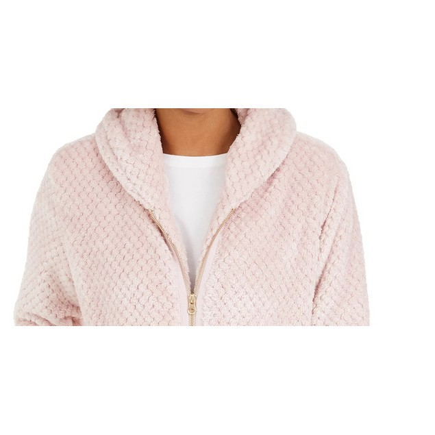 Ideology Women's Quilted Fleece Jacket White Size XX-Large