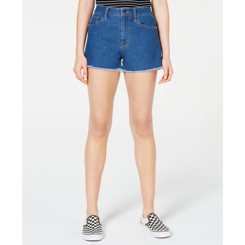 Tinseltown Juniors' Frayed Denim Shorts Blue Size 1