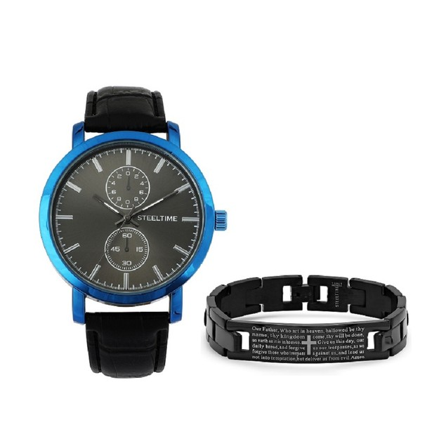 Bracelet & Watch Set W/ Prayer Bracelet