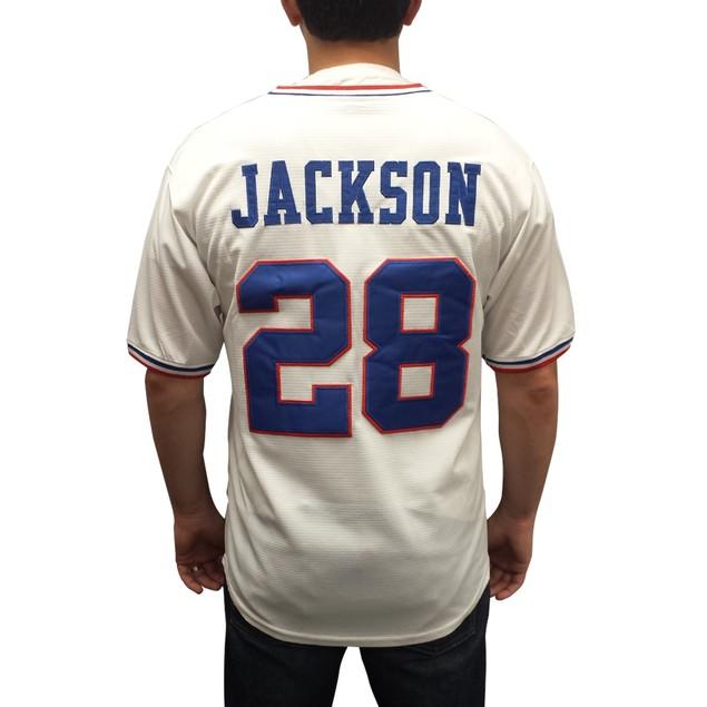 Jackson #28 Chicks White Baseball Jersey