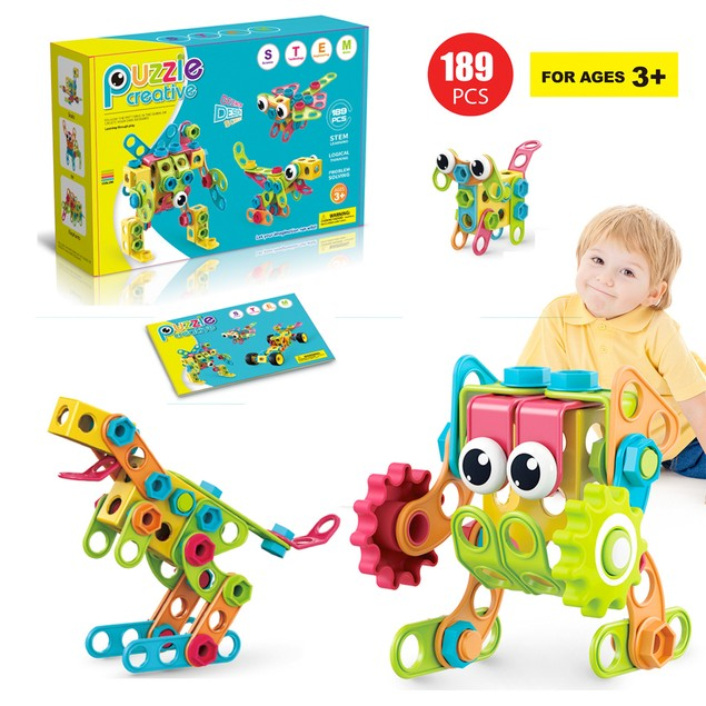 Zunammy Educational Construction Building Sets Toys for Kids  ( 189 Pieces )