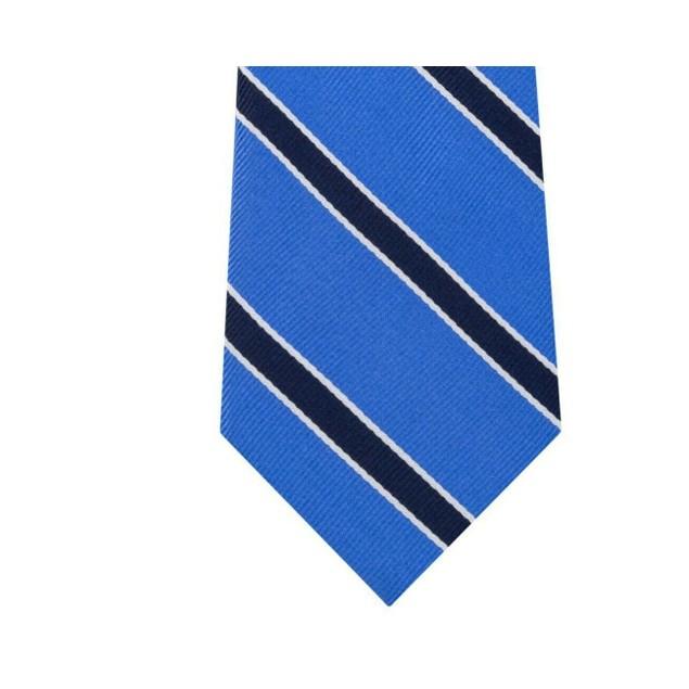 Tommy Hilfiger Men's Preppy Classic Stripe Tie Blue Size Regular