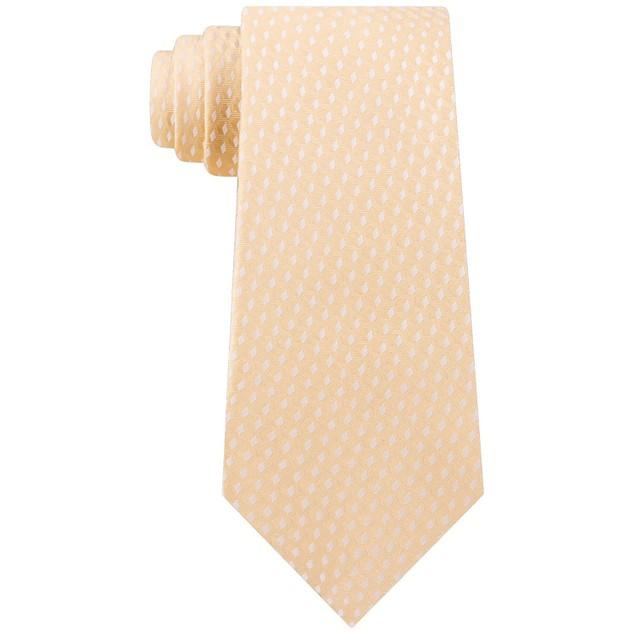 Michael Kors Men's Geometric 100% Silk Neck Tie Yellow Size Regular