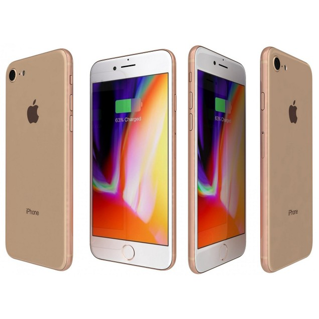 Apple iPhone 8, T-Mobile, Gold, 128 GB, 4.7 in Screen