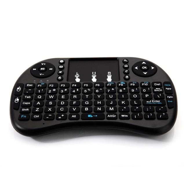 i8 Mini 2.4GHz Wireless Keyboard With Touchpad Black