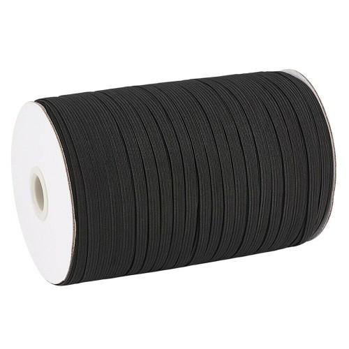 1/4 Inch Elastic Band, 500 Yards Black Sewing Elastic Band/Rope/Cord/String - Black