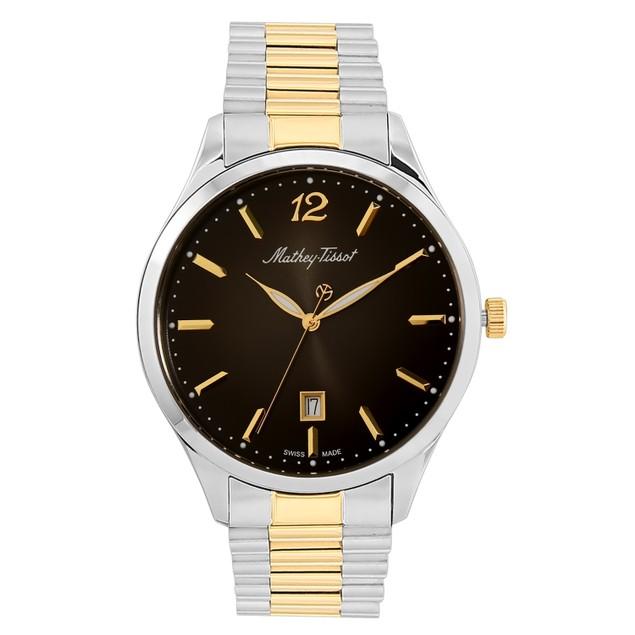 Mathey Tissot Men's Urban Metal Black Dial Watch - H411MBN