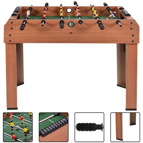 Costway 37'' Foosball Table Competition Game Soccer Arcade Sized football S