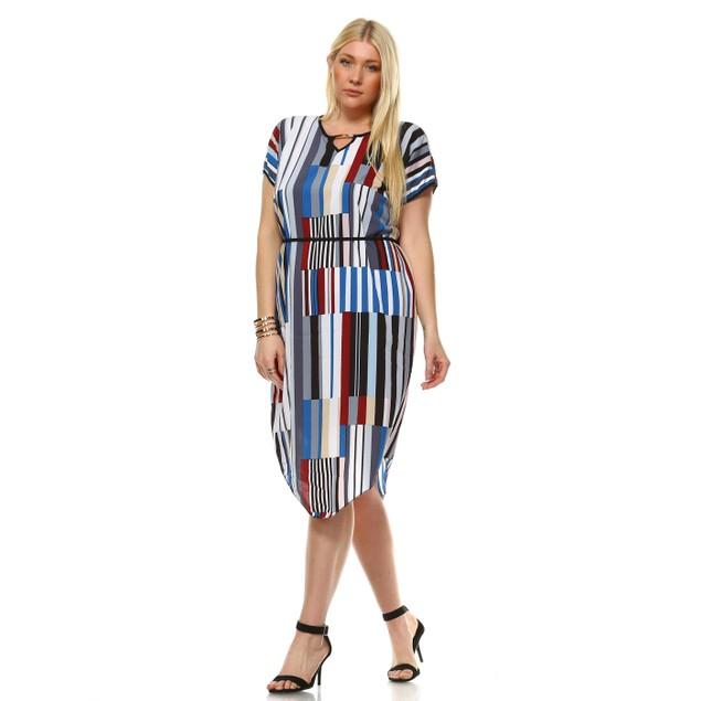 Plus Size Printed Ruby Midi Dress - 3 Colors