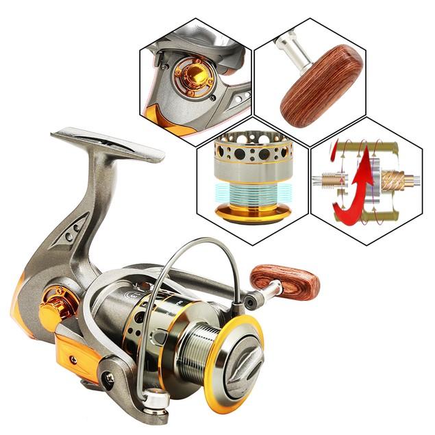 Spinning Fishing Reel Metal Spool Wheel Saltwater Freshwater Fishing DC3000