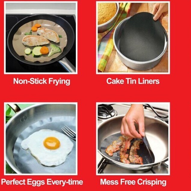 Non - Stick High Temperature Frying Pan Liner