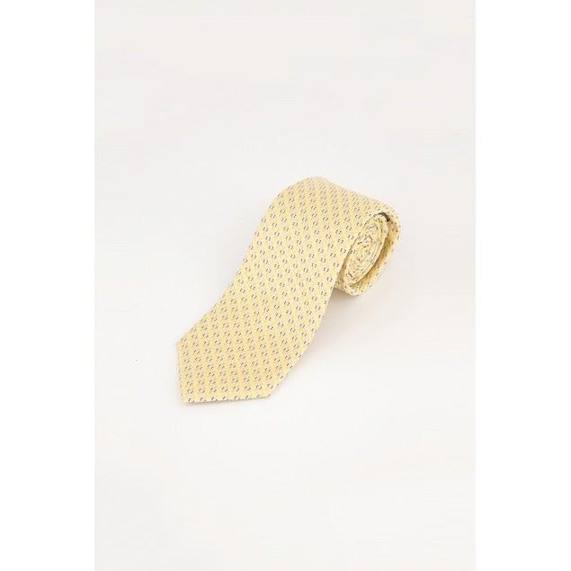 Michael Kors Men's Yellow Geometric Classic Neck Tie Yellow Size Regular