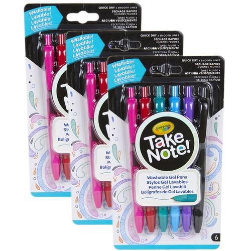 18-Count Crayola Medium Point Washable Gel Pens Set