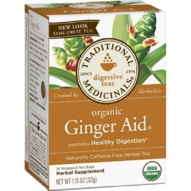 Traditional Medicinals Tea Organic Ginger Aid