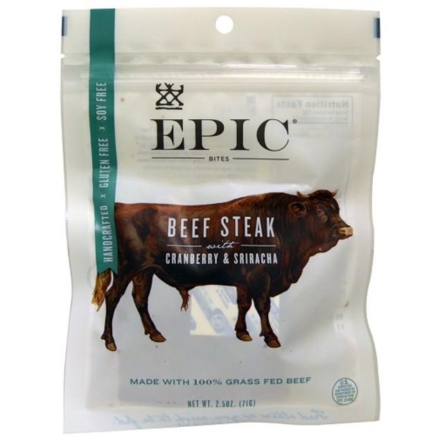 Epic Bites Beef Steak with Cranberry & Sriracha
