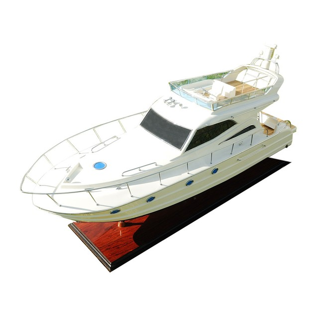 Old Modern Handicrafts Tabletop Viking Sport Yacht Collectible Boat Model
