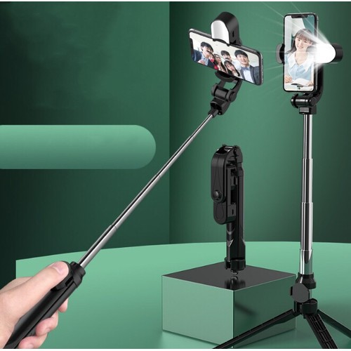 Lighted Tripod Selfie Stick with Remote